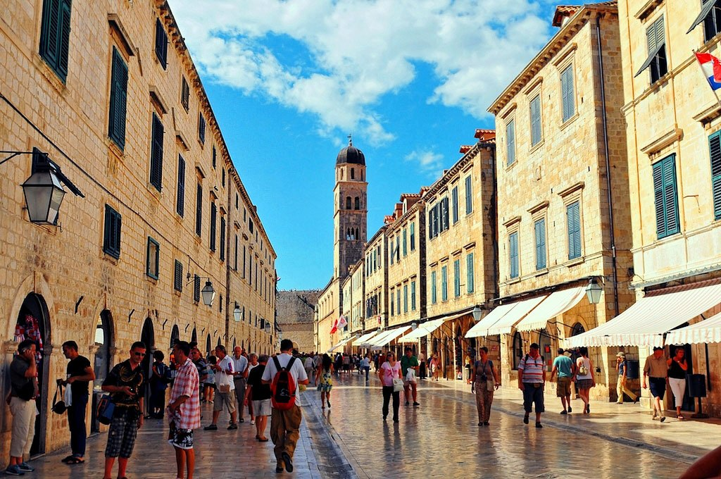 Stradun or officially Placa - the main street in Dubrovnik