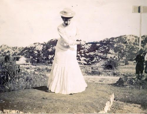Golf club in Cetinje July 1906 - Princess Milica