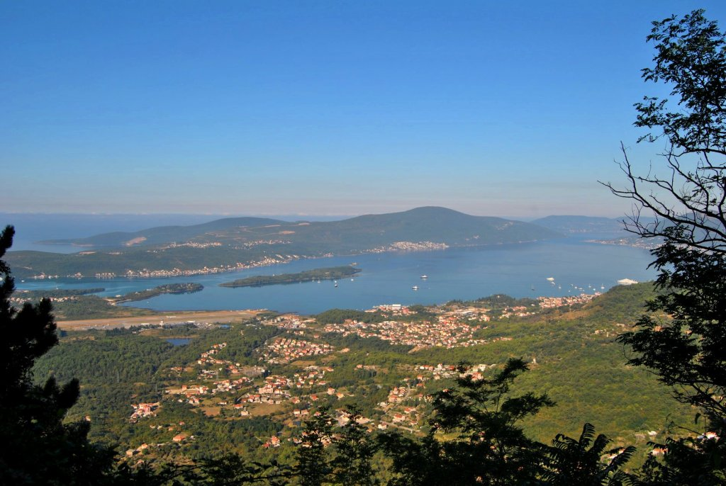 Panorama of Tivat Bay