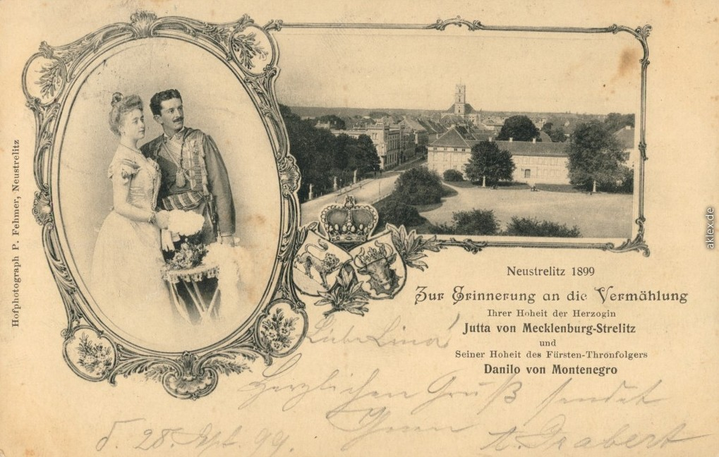 Prince Danilo of Montenegro and Duchess Jutta of Mecklenburg-Strelitz