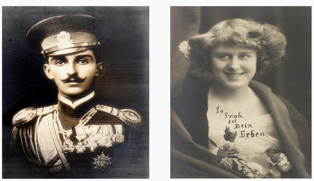Prince Peter of Montenegro and Violet Wegner