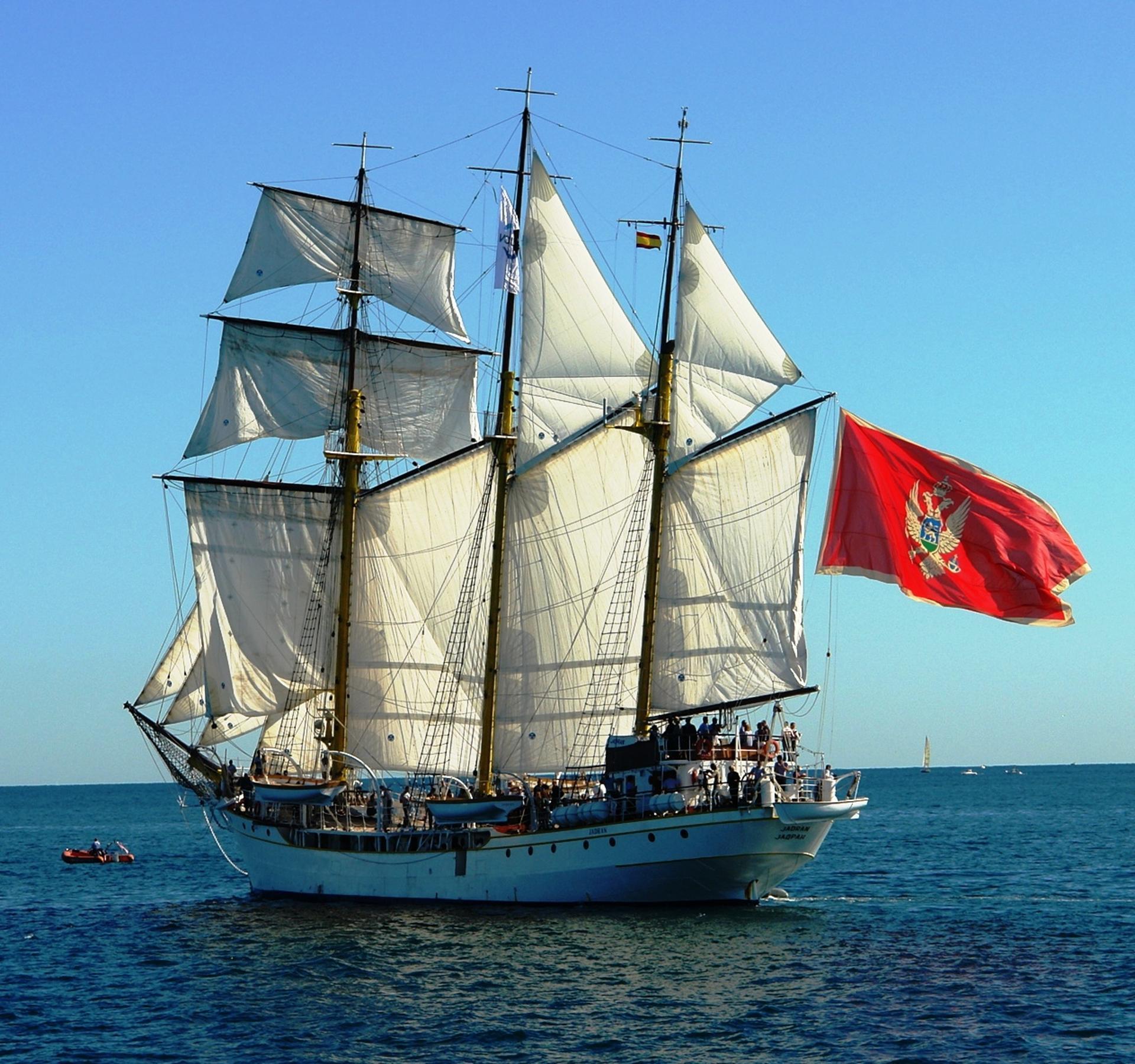 Sailing ship Jadran, Tivat, Montenegro
