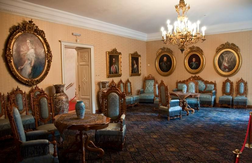 The diplomatic audience room in King Nikola Palace