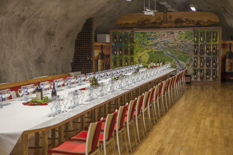 Tasting room in wine cellar Sipcanik