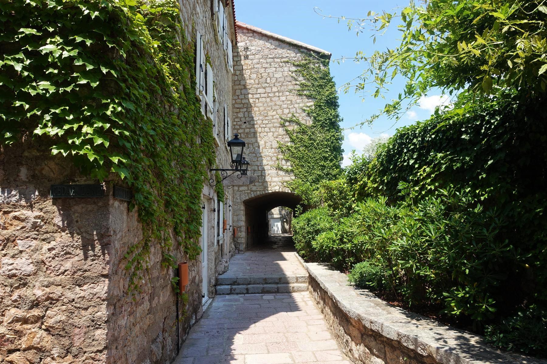 Sveti Stefan former fishing village