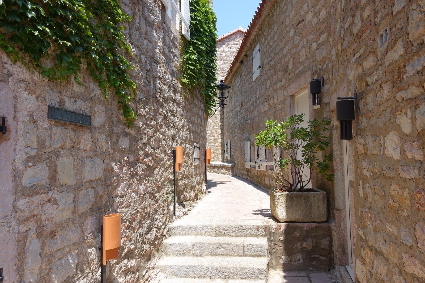 One of narrow streets - Sveti Stefan