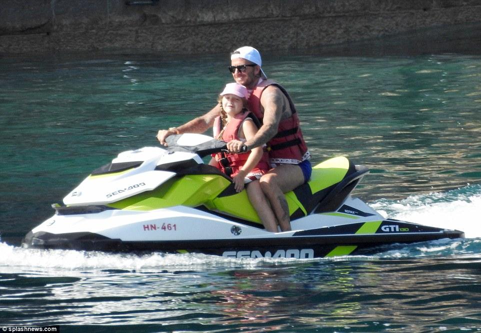 David Beckham rest at Sveti Stefan island
