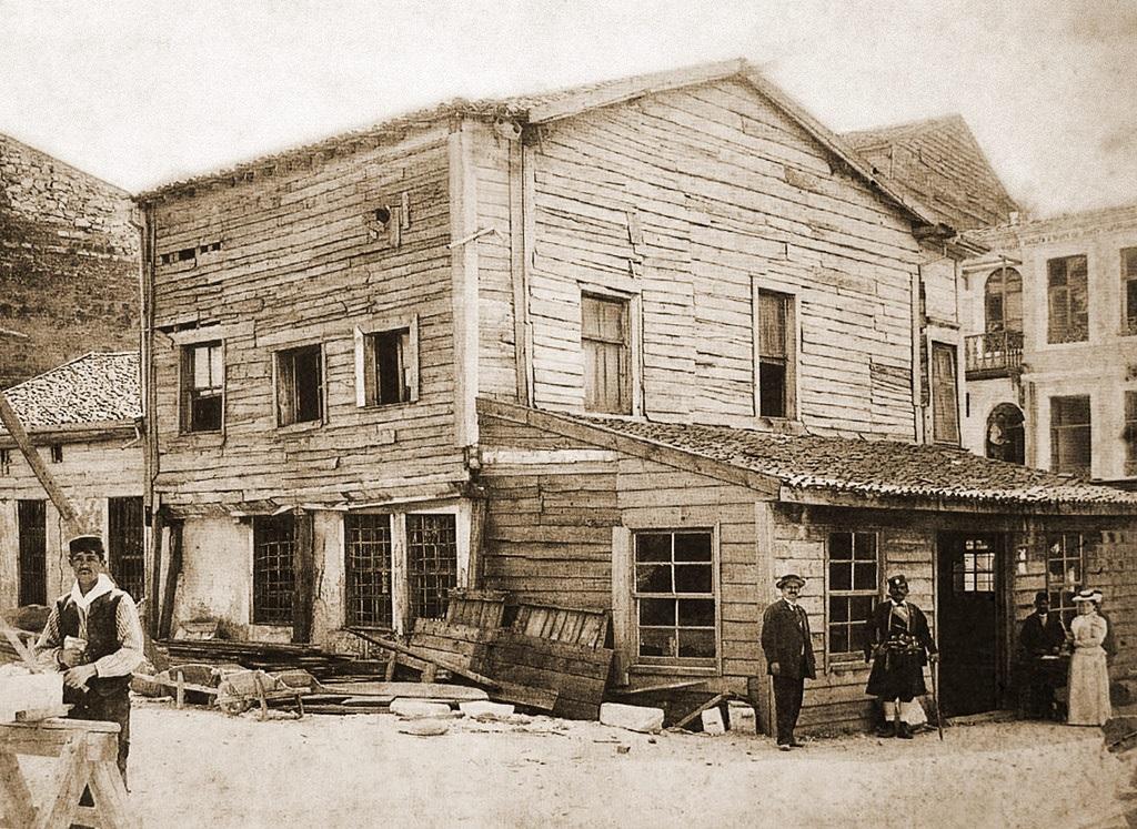 Construction of houses on Sveti Stefan