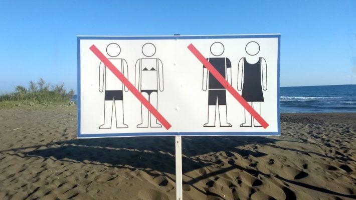 Ada Bojana Montenegro - entrance to the nudist beach